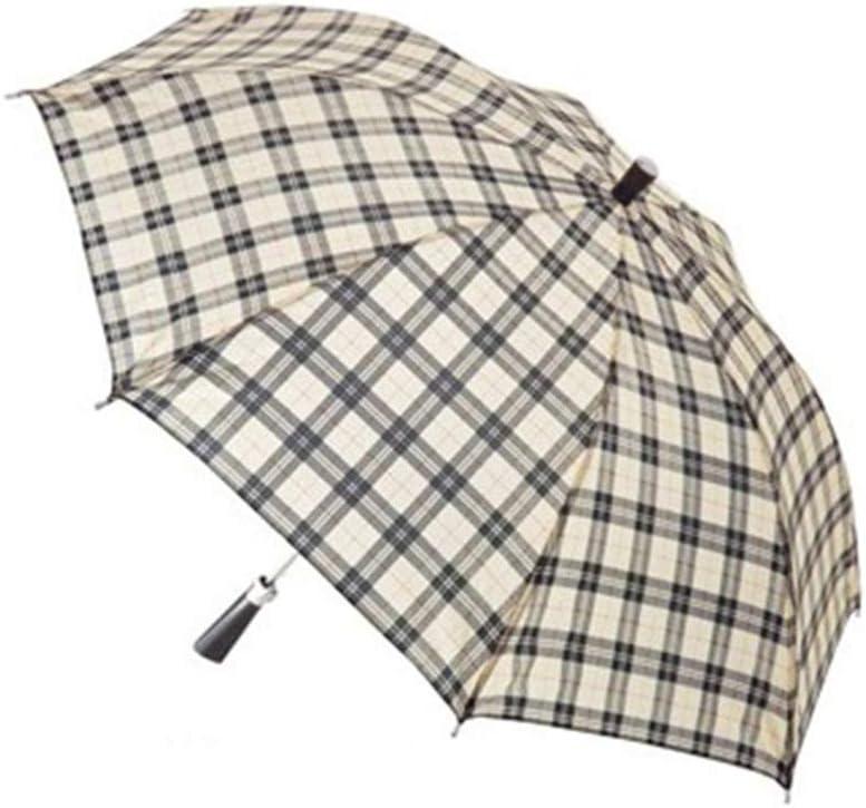 Comeyang Paraguas Compacto y a Prueba de Viento Que Abre y Cierra automáticamente el Paraguas Plegable,Paraguas a Cuadros Paraguas protección UV color9 98cm: Amazon.es: Hogar