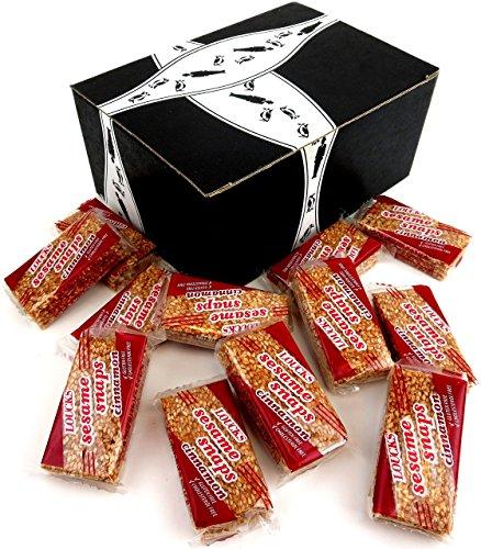 Loucks Sezme Cinnamon Sesame Snaps, 1.34 oz Packages in a BlackTie Box (Pack of (Sesame Seed Snaps)