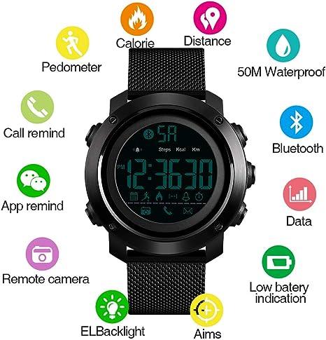 DDGOU Sport Smart Watch Hombres Calorías Podómetro Bluetooth ...