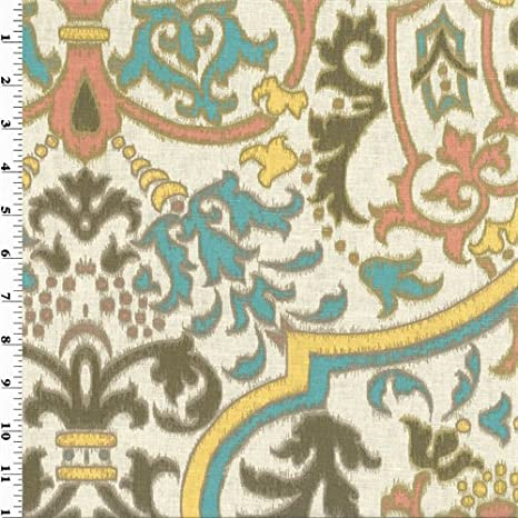 Amazon Com Multicolor Ikat Ogee Print Linen Home Decorating