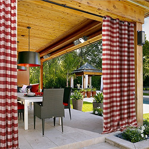ChadMade Gingham Check Plaid Outdoor Curtain 100