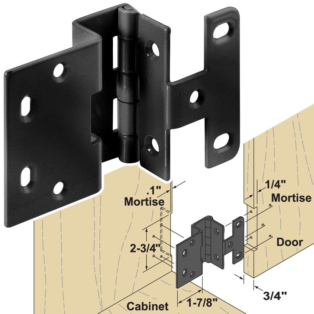 Woodworker's Supply, Inc. 866952, Hardware, Hinges, Cabinet, 3/4'' Gloss Black Hinge, 100-pack