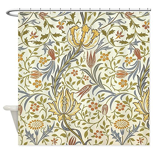 William Morris Iron (CafePress - William Morris Flora Pattern Shower Curtain - Decorative Fabric Shower Curtain)