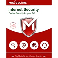 Max Secure Software Internet Security Version 6 - 1 PCs, 3 Years (Email Delivery in 2 Hours - No CD)