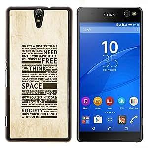 For Sony Xperia C5 Ultra Case , Libertad de la Sociedad de la tipografía- Diseño Patrón Teléfono Caso Cubierta Case Bumper Duro Protección Case Cover Funda