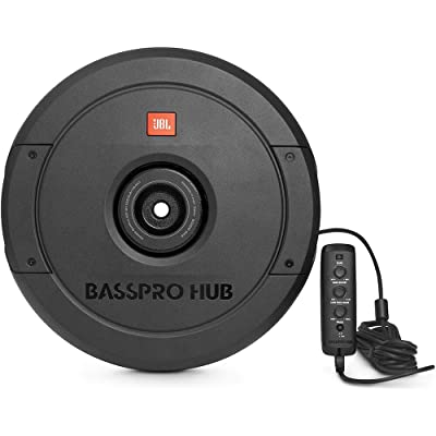 "JBL BassPro Hub 11"" Spare Tire Subwoofer w/Enclosure and Built-in Amplifier: Automotive"