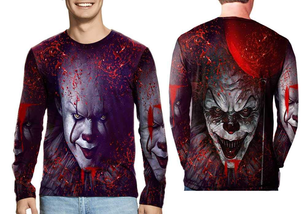 Amazon.com : Pennywise The Dancing Clown Fans Art Man Top Fullprint Sublimation Size S - 3XL : Sports & Outdoors