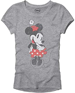 9a9ff8fe Disney SHY Minnie Mouse Classic Vintage Disneyland World Adult Women's  Juniors Slim Fit Graphic Tee T