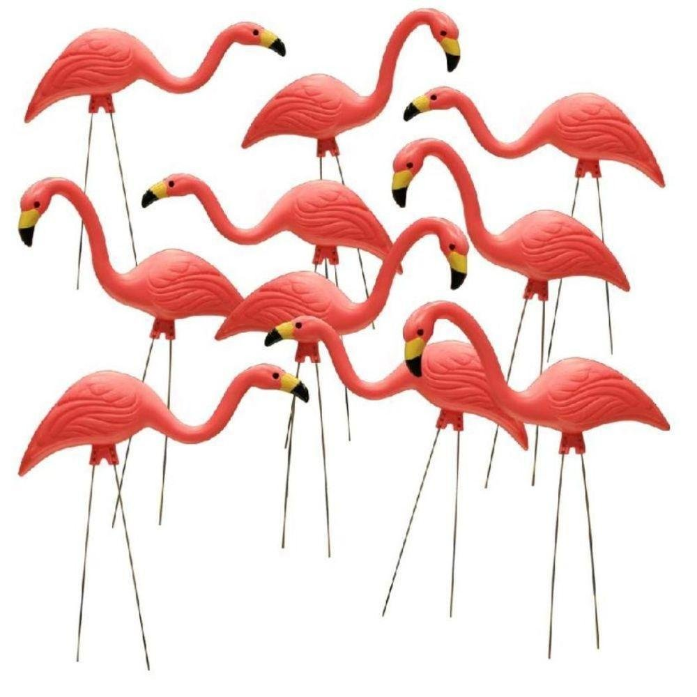 Southern Patio HDR-499485 Flamingo Garden Statues,Pink,Pack of 10(26-Inch)