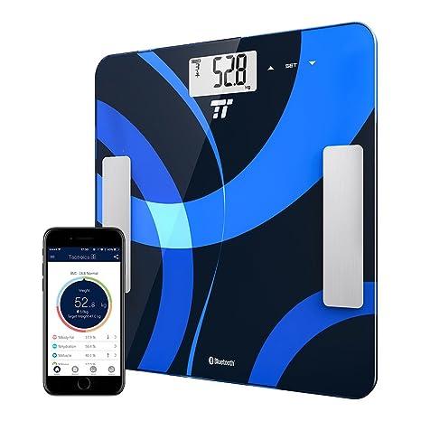 Báscula corporal digital, de TaoTronics, con conexión a la app para medir de peso