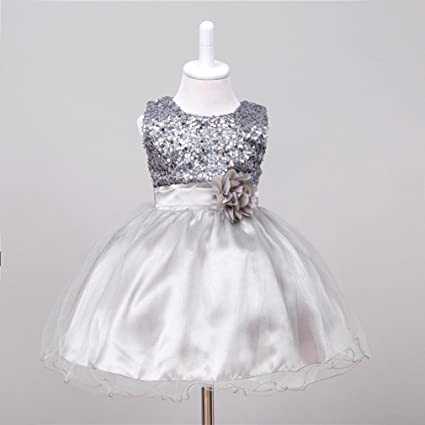 21a96541c7d93 Amazon.com: Gotd Infant Toddler Baby Girl Sequins Sleeveless Tutu Princess Dress  Clothes Winter Outfits Christmas Holiday (0-6 Months, Silver): Musical ...