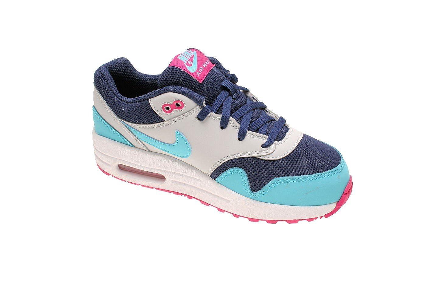 aa05bb3121f2e2 Nike Kinderschuhe Air Max 1 (PS) Midnight Navy   Blue   Vivid Pink   Amazon.de  Schuhe   Handtaschen