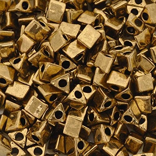 Seed Beads-5/0 Sharp Triangle-457 Metallic Dark Bronze-Miyuki-16 Grams