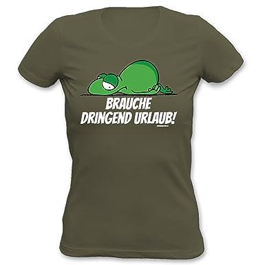 Cooles Damen T Shirt Lustige Spruche Motive Brauche Dringend