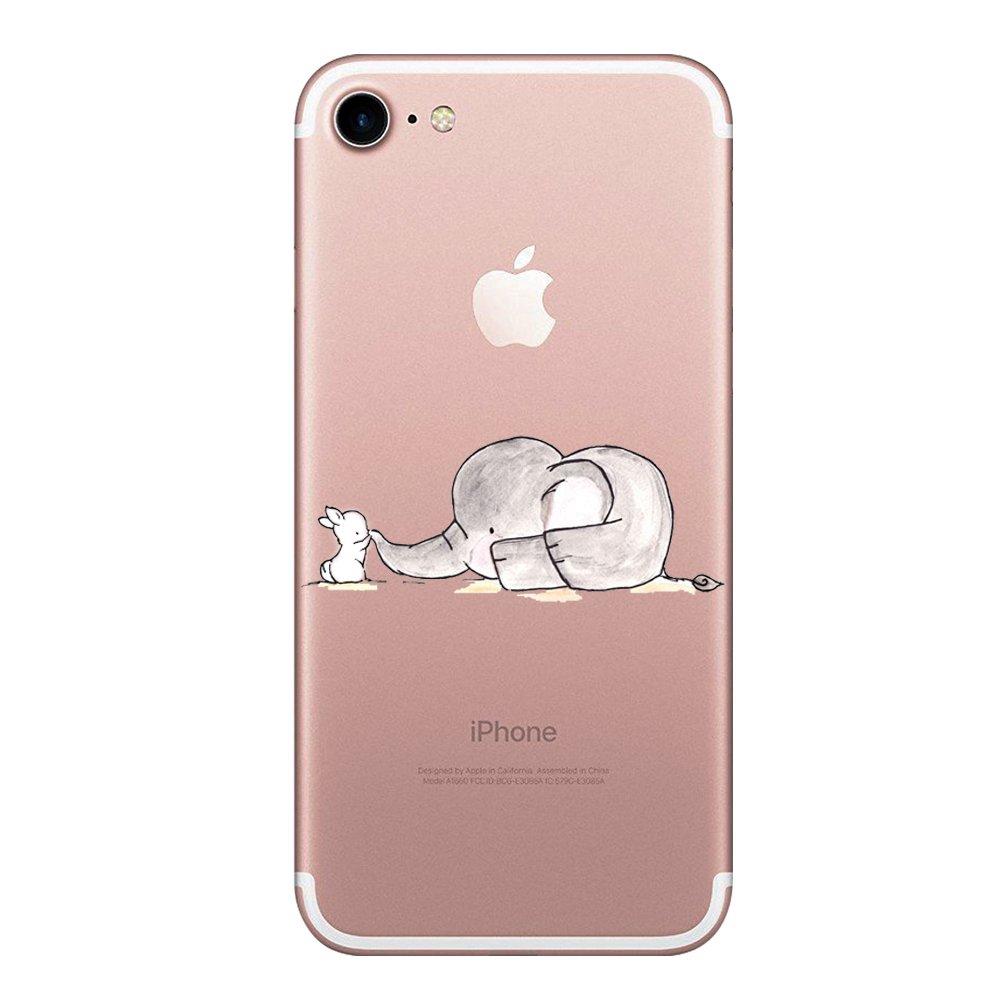 iPhone 8 Alsoar Compatibile per iPhone 7 Case iPhone 8 Cover Sottile e Leggera Silicone Trasparente Anti Scivolo Graffi Morbido TPU Design Creativo Cover per iPhone 7