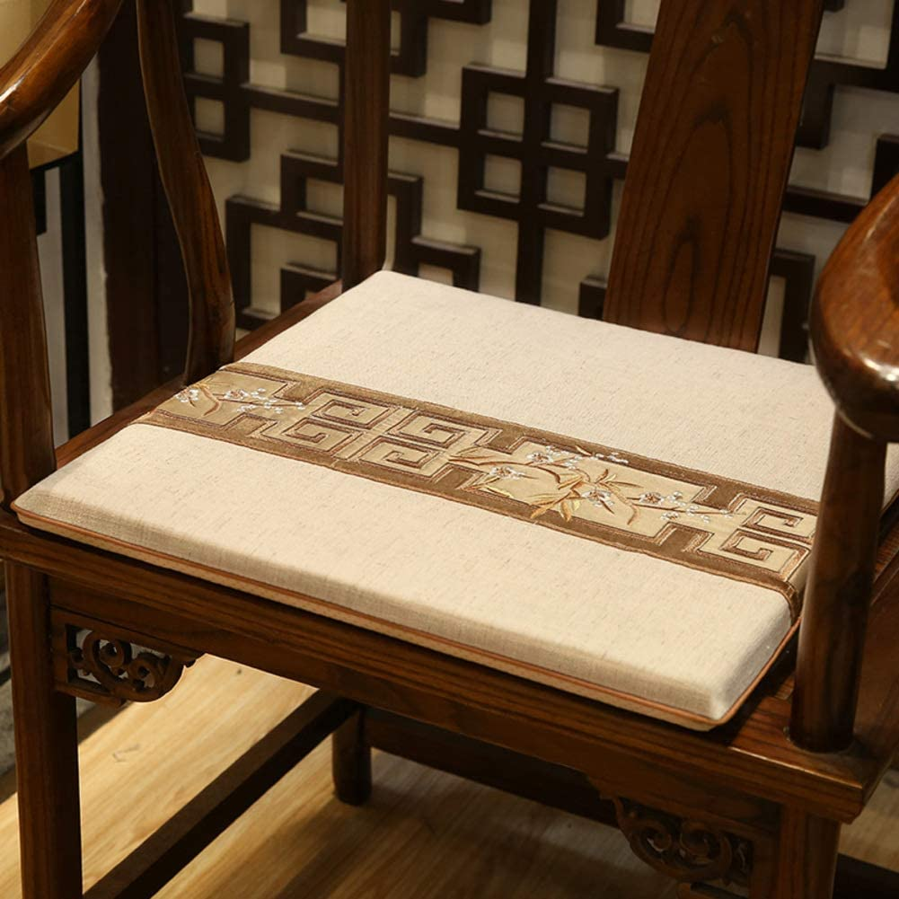 JR%L New Chinese-Style Mahogany Seat Cushions, Sofa Cushioning Seat Cushions Taishi Chair Cotton Soft Stuffed Home Decor Indoor Chair Cushions-c 50x50x3cm