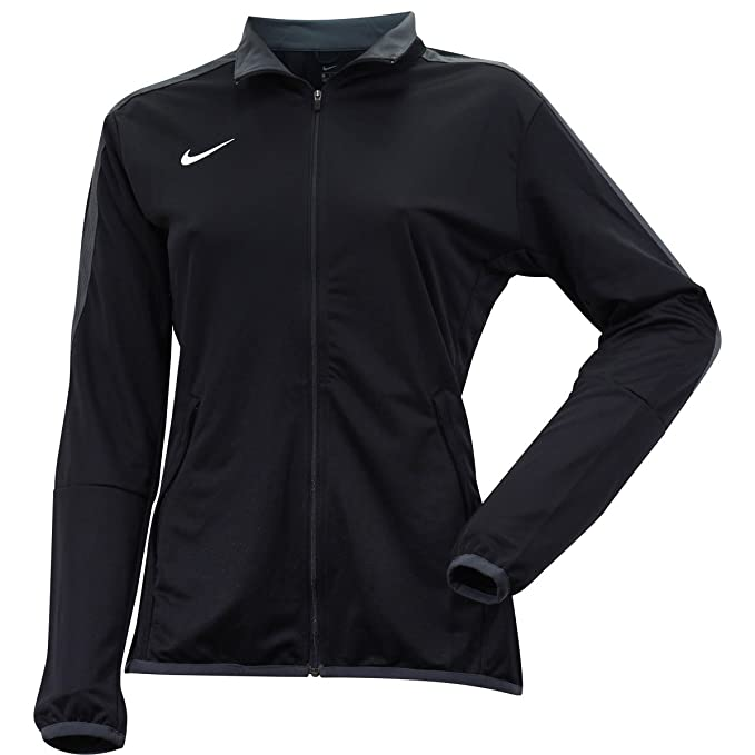 4f38b5bb Nike Women's Mesh Stripe Long Sleeve Black Athletic Training Jacket Sz: S