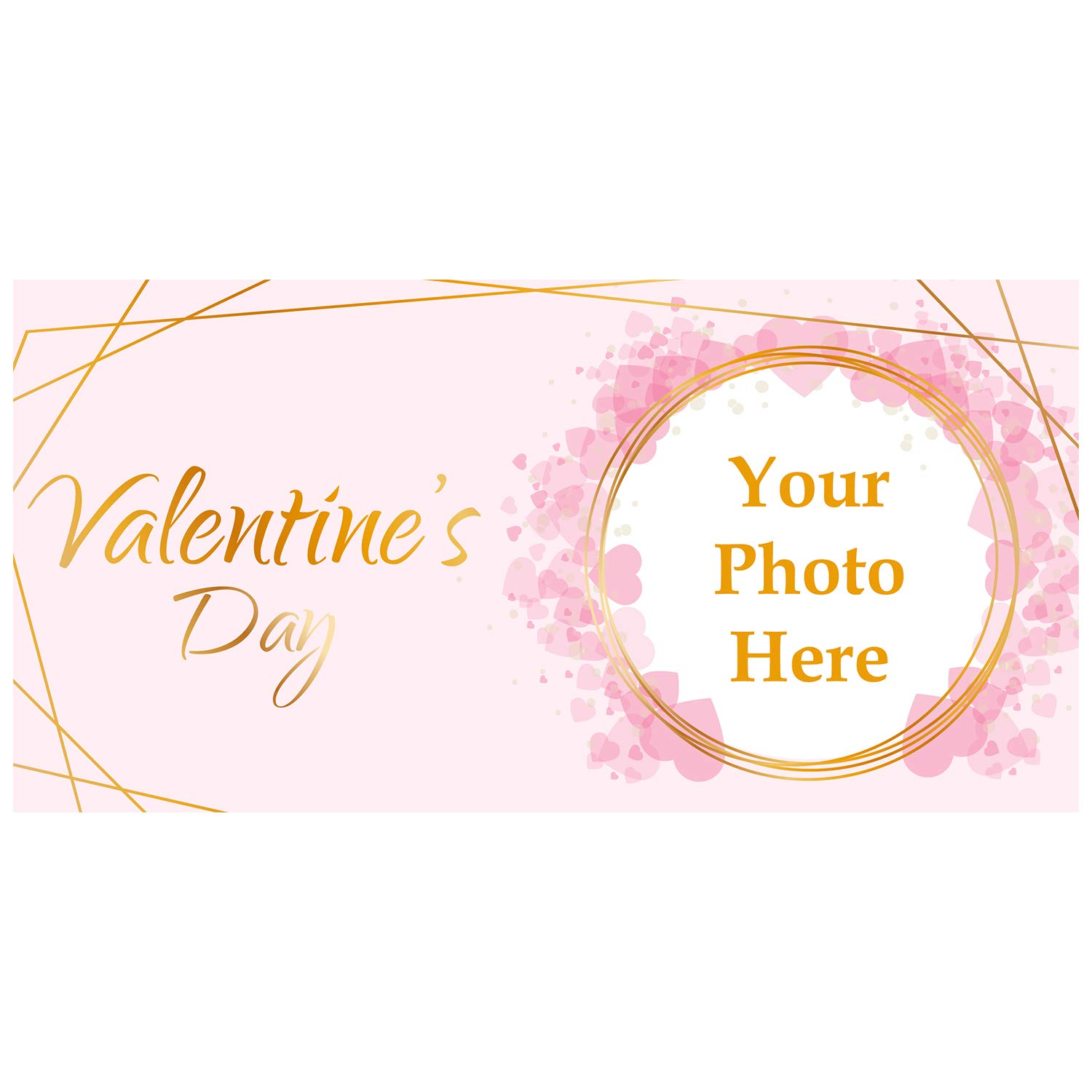 BANNER BUZZ MAKE IT VISIBLE Valentine's Day Custom Magnetic Picture Pocket Frame, Self-Adhesive Pocket Photo Magnets for Refrigerator, Valentine Day Gifts & More (12'' X 24'')