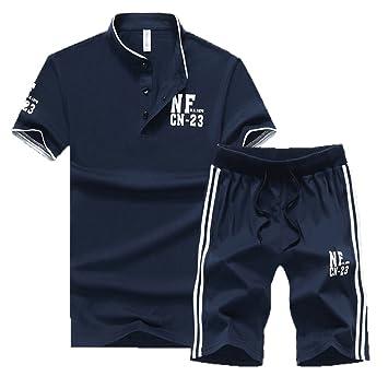 a9f0d2ad74a73 Chándal Para Hombre Set De Ropa Tracksuit 2 Impreso Camiseta Y Pantalón  Cortos Deportivas Conjunto De Ropa  Amazon.es  Deportes y aire libre