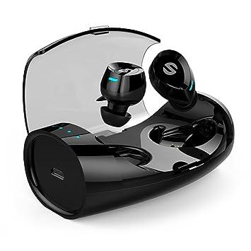 Mini Auriculares Bluetooth Headset Deportivos Inalámbrico Impermeable Nivel Estéreo Inalámbrico Wireless Reducir el Ruido con Micrófono Incorporado E60: ...
