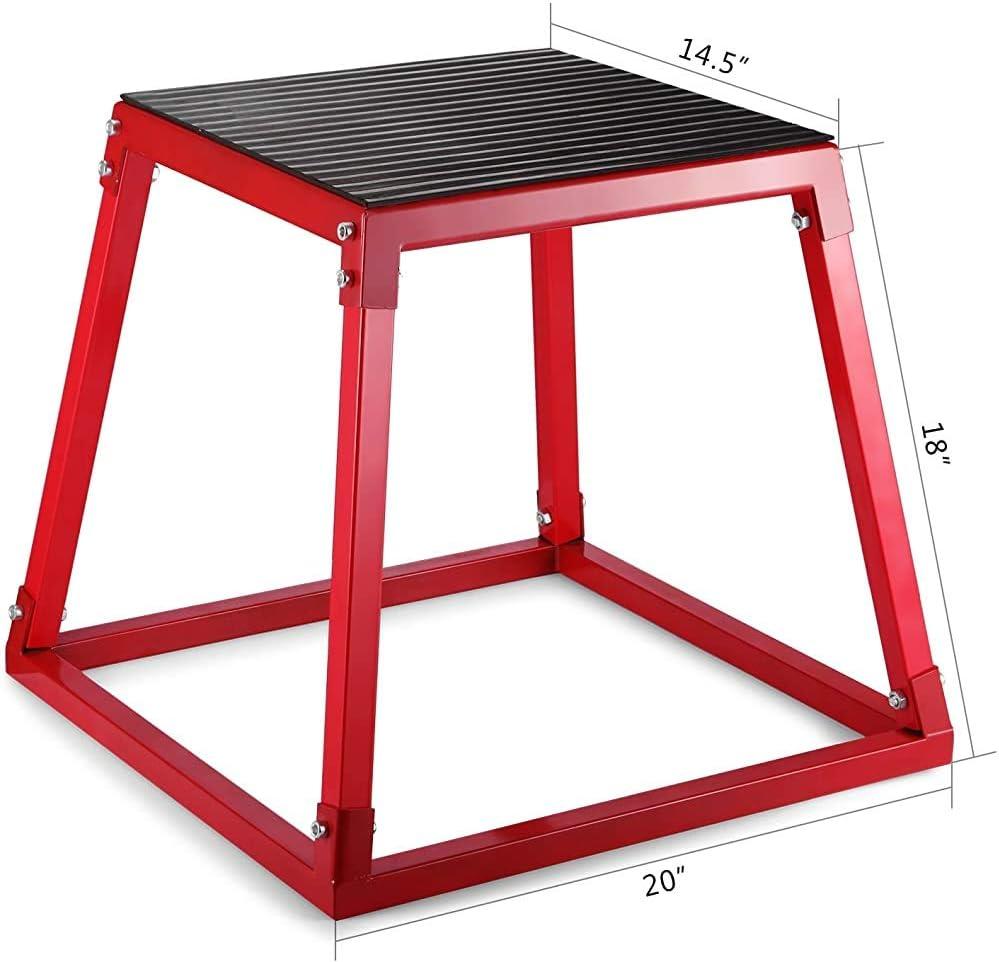 Pedal del altímetro deporte cuadro de caballos de fitness altura de la plataforma caja kits de formación de la caja de color rojo para el entrenamiento deportivo, 24