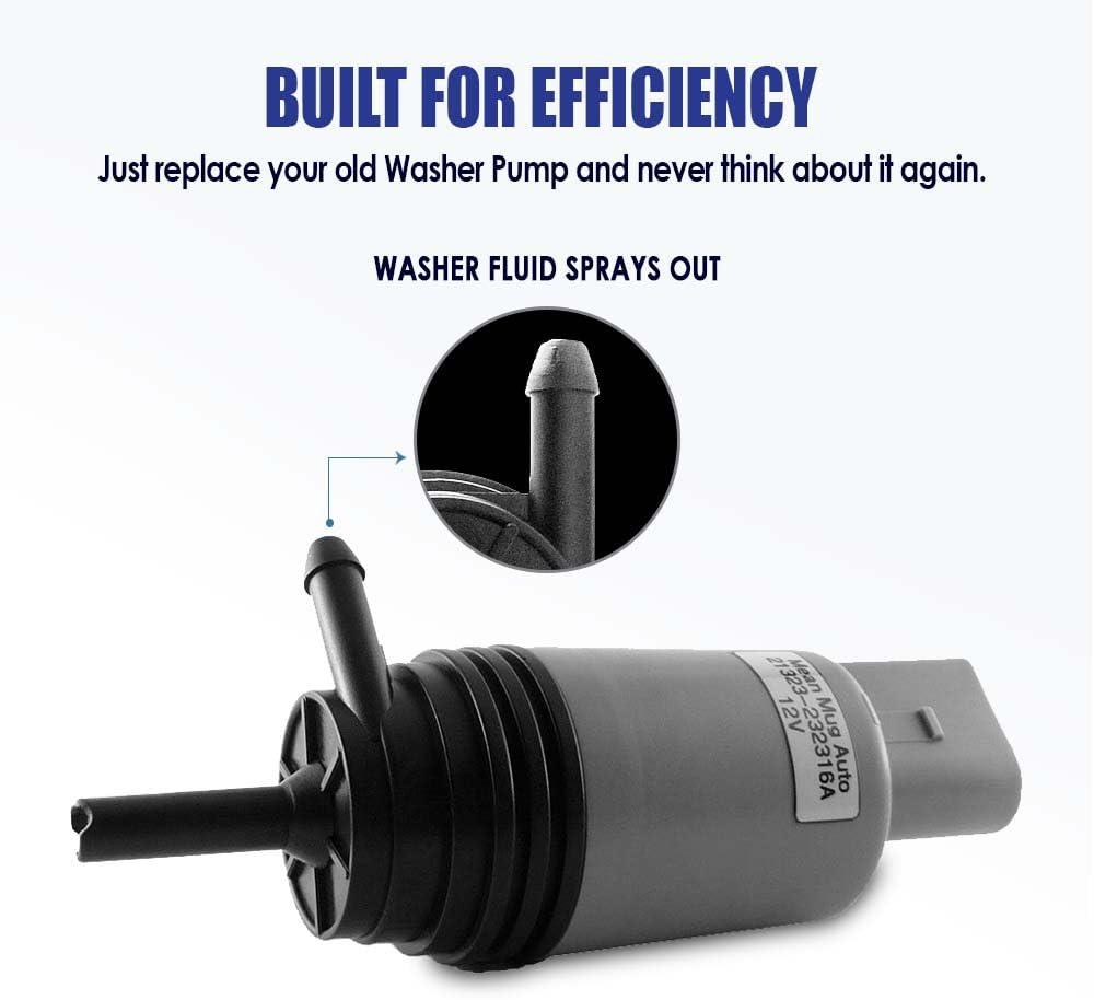 KARPAL Windshield Washer Pump 67127302589 Compatible With BMW 128i 320i 325i 328i