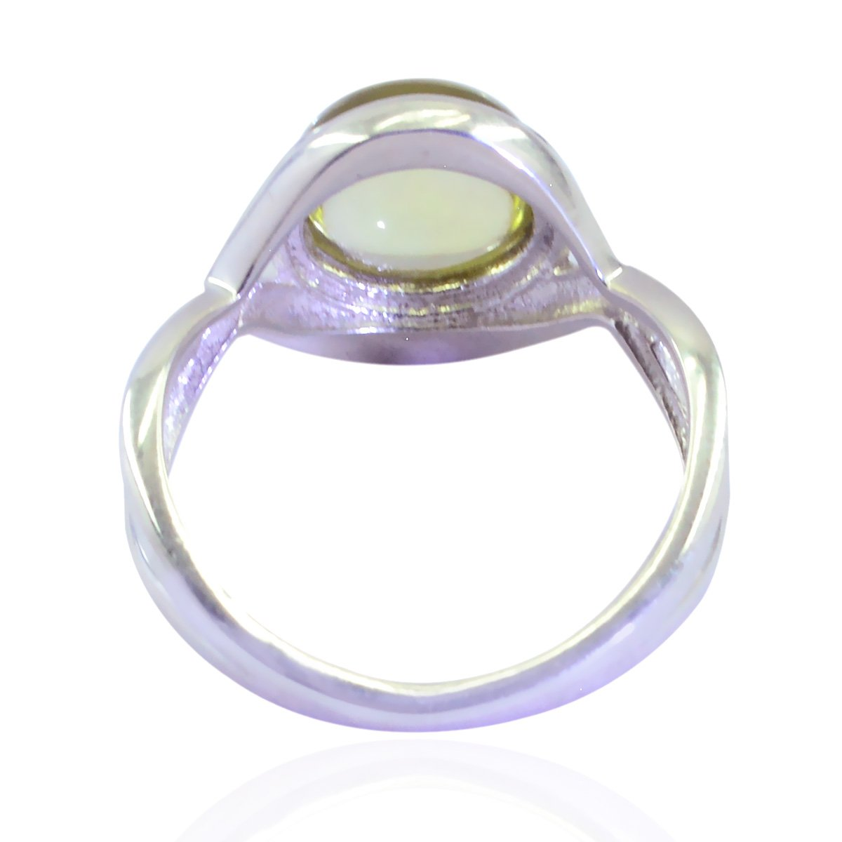 Lucky Gemstone Round cabochon Prehnite Ring fine Jewellery Greatest Item Gift for Mothers Day Personalized Jewelry 925 Sterling Silver Green Prehnite Lucky Gemstone Ring