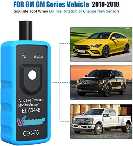 VXSCAN EL-50448 GM TPMS Relearn Tool helps clear any TPMS problem that occurs after a tire or sensor re-installation.