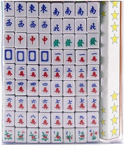 Yangxuelian Mah Jong Mini Mahjong Juegos de Mesa Familiar portátiles Mahjong Juego Mahjong Juegos Familiares para Fiesta en Casa Juegos Familiares (Color : Green, Size : One Size): Amazon.es: Hogar