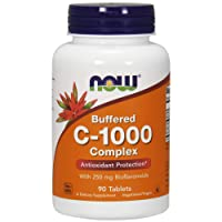 NOW Supplements, Vitamin C-1000 Complex with 250 mg of Bioflavonoids, Buffered,...