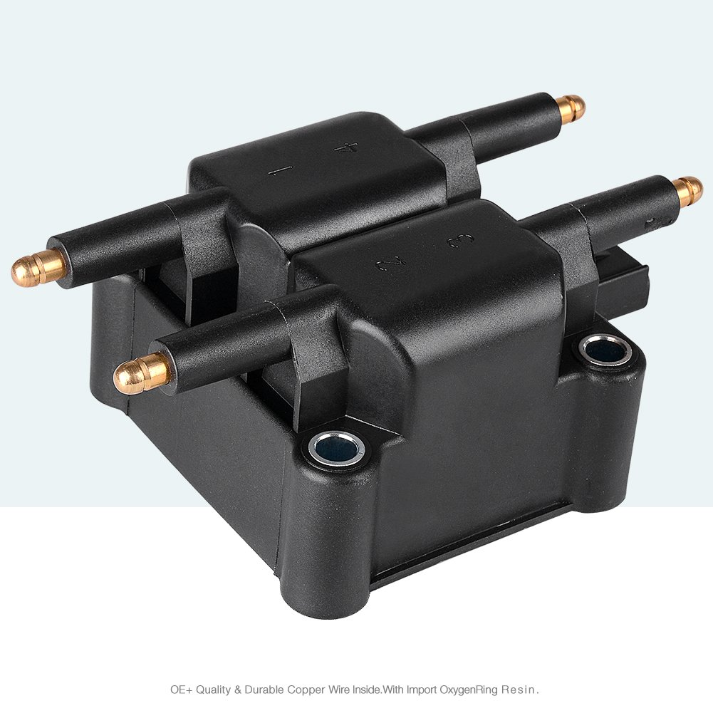 Ignition Coil for Chrysler PT Cruiser - Dodge Caravan/Neon/Stratus/Viper/RAM 1500/2500/3500 - Jeep Liberty/Wrangler (1 pack) 61WScrQ7Z7L