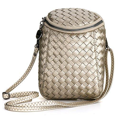 Woven Leather Handbags - 6
