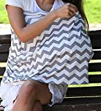 Multi Use Nursing Breastfeeding Cover – Breathable, Stretchy, Fashionable to use as a Infinity Nursing Scarf and Shawl