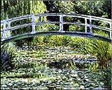 Ceramic Tile Mural - Le Pont Japonais a Giverny - by Claude Monet - Kitchen backsplash / Bathroom shower