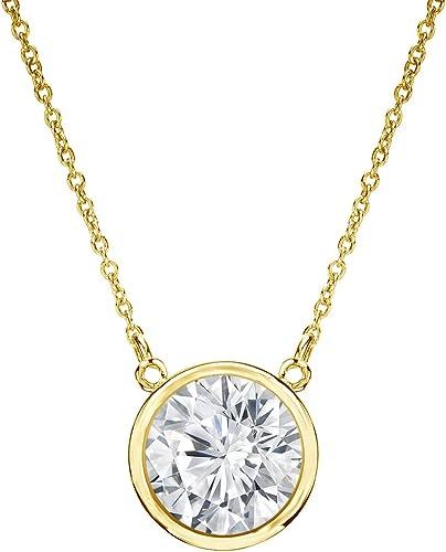 Chain 0.5 Carat Natural Black Diamond Bezel 14K Yellow Gold Solitaire Pendant