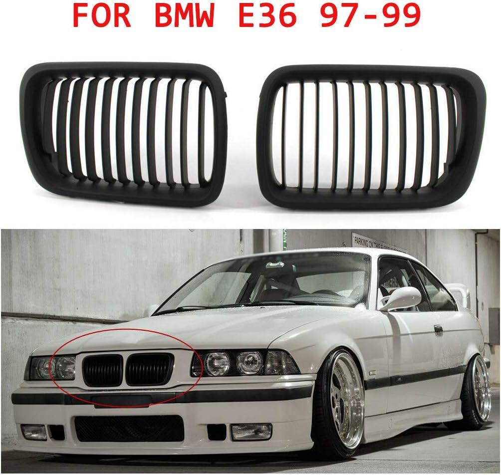 H HILABEE Paar Gloss Black Front Nierengitter Grill F/ür BMW E36 1997 1999 3er