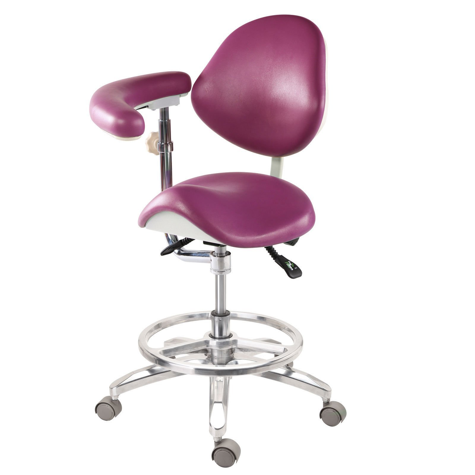 Super Dental Stool Dentist's/ Doctor's/Assistant's Stool Chair 18 color (Deluxe) by Super Dental (Image #1)