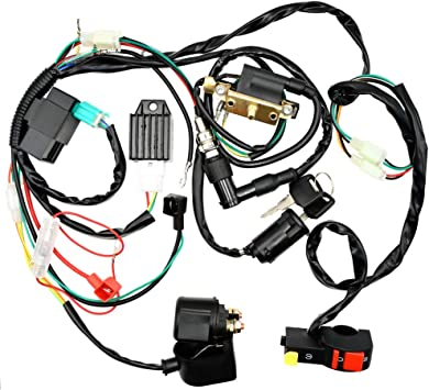 bp wiring harness amazon com royitay complete electrics start engine cdi ignition  cdi ignition