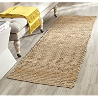 Safavieh Cape Cod Collection CAP355A Hand Woven Flatweave Natural Jute Runner (23 x 10)