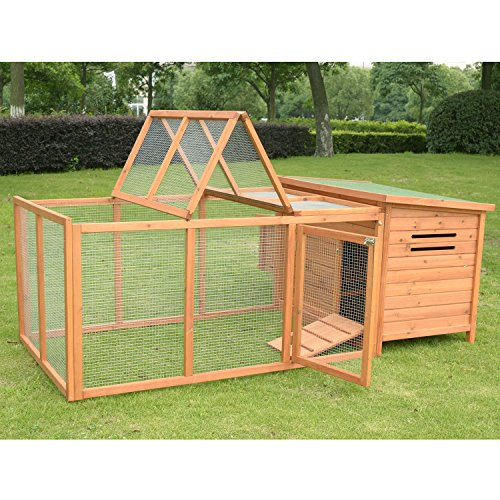 Pawhut Deluxe Wooden Chicken Coop with Backyard Outdoor Run, 87'' by PawHut (Image #3)