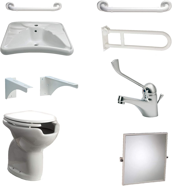 Accessori Bagno Disabili Thermomat.Thermomat 10001s Set Per L Allestimento Di Bagni Per Disabili Bianco Amazon It Fai Da Te