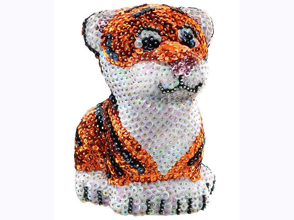 modelo tigre 1122 K.S.G Juego lentejuelas