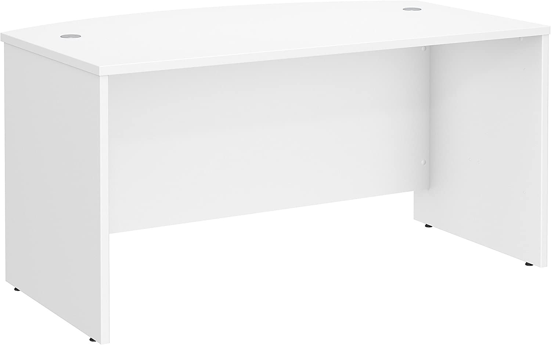 Bush Business Furniture Studio C 60W x 36D Bow Front Desk in White