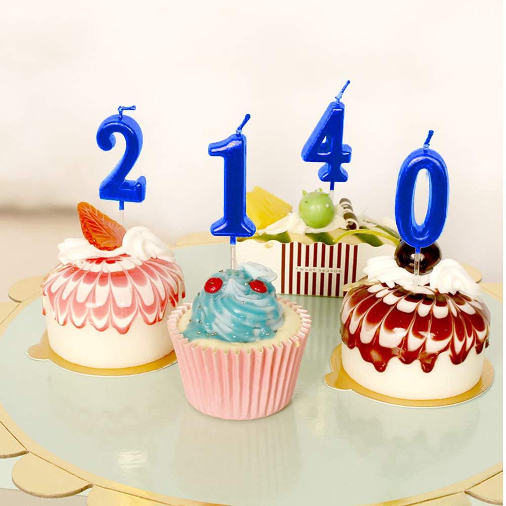 Amazon.com: NewCandle - Velas con números de cumpleaños ...