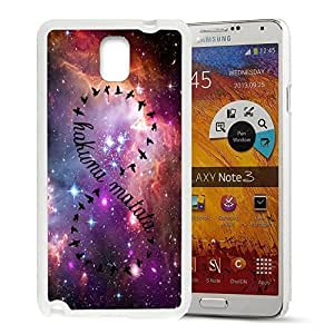 Africa Ancient Proverb Color Accelerating Universe Star Design Pattern HD Durable Hard Plastic Case Cover for Samsung Galaxy Note 3 Kimberly Kurzendoerfer