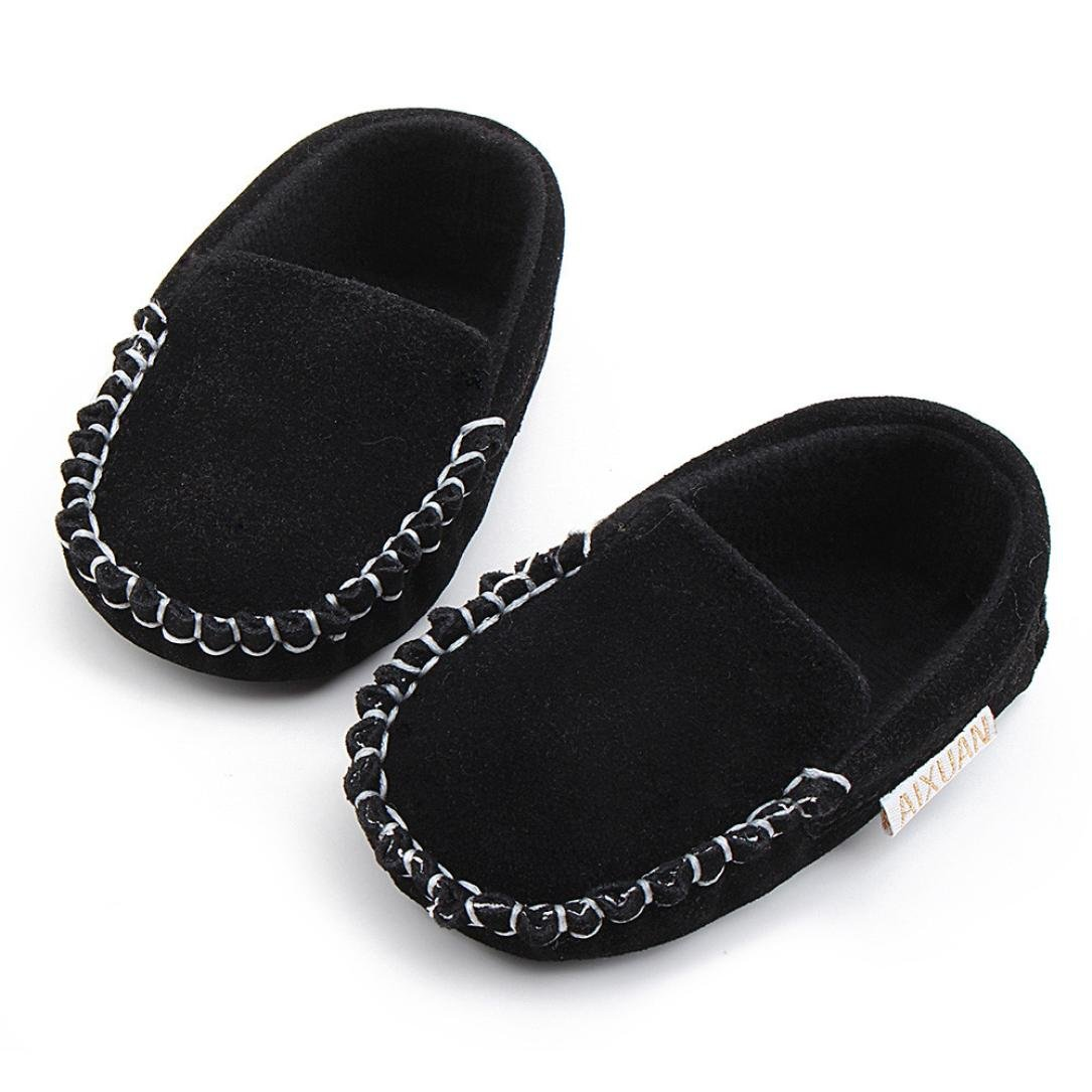 WARMSHOP Cute Baby Aixuan Double Velour Soft Sole Slip-On Flats Casual Shoes