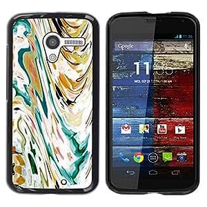 For MOTO X / XT1058 / XT1053 / XT1052 / XT1056 / XT1060 / XT1055 Case , Art Painting Watercolor Waves - Diseño Patrón Teléfono Caso Cubierta Case Bumper Duro Protección Case Cover Funda