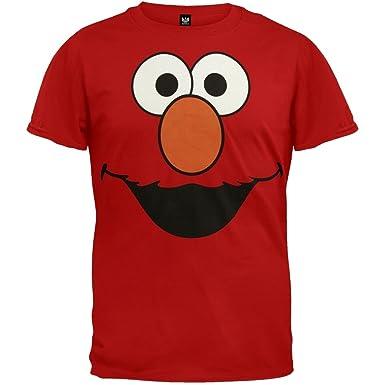 Amazon.com: Sesame Street Elmo Face RED Men T-Shirt Medium: Clothing