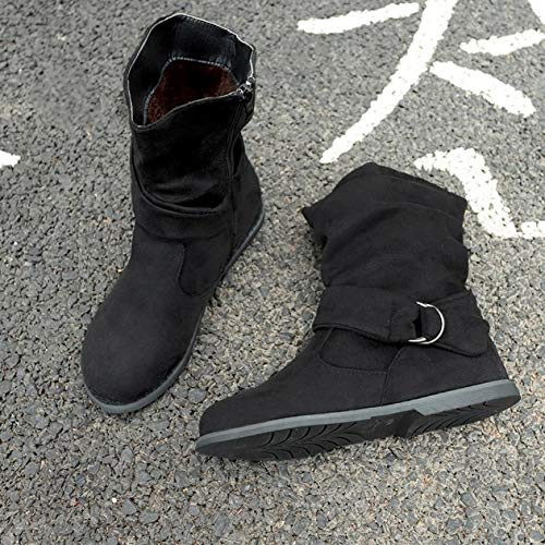 2018 Womens Ankle Boots, Vintage Style Flat Booties Soft Shoes Set of Feet Middle Boots Black