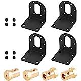 Rustark 4 Pcs 37mm Diameter DC Gear Motors Mounting Bracket Black Rust Resistance Gearbox Fixed Seat Gear Reduction Motor Hol